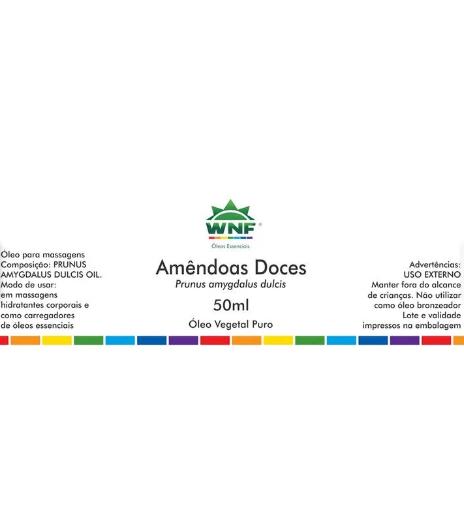 Óleo Vegetal Amêndoas WNF - 50ml