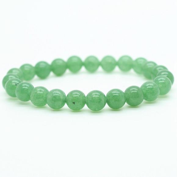 Pulseira Quartzo Verde Polido - 18 cm