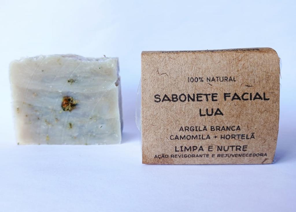 Sabonete Facial Lua 70gr  Jurema Saboaria Natural