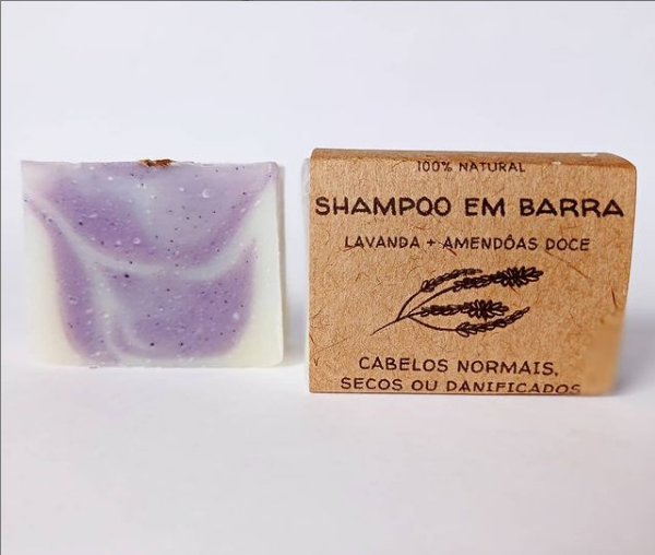 Shampoo em Barra Lavanda e Amêndoas Doce 70gr  Jurema Saboaria Natural