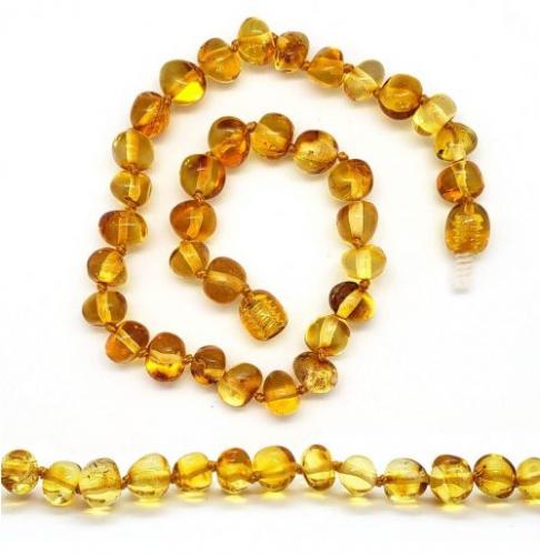 Tornozeleira de Âmbar Adulto Mel Barroco Polido - 25 à 27 cm