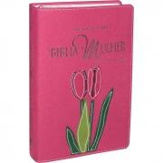 Bíblia da Mulher | RA | Letra Normal | Capa Sintética | Goiaba | Borda Floral