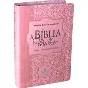 Bíblia Sagrada da Mulher | RA | Letra Normal | Capa Sintética | Rosa