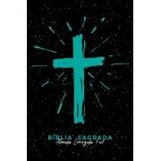 Bíblia ACF SLIM Cruz Tiffany Letra Normal: Almeida Corrigida Fiel