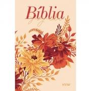 Bíblia Buquê Creme  NVI   Letra Gigante   Capa Soft-Touch