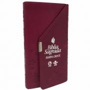Bíblia Carteira com Harpa Cristã / Vinho - (ARC)