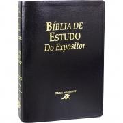 Bíblia de Estudo do Expositor - Capa couro bounded preta: Nova Versão Textual Expositora