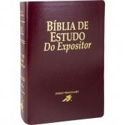 Bíblia de Estudo do Expositor - Capa couro bounded vinho: Nova Versão Textual Expositora