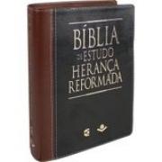Bíblia de Estudo Herança Reformada - Couro sintético Preto e marrom