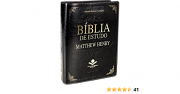 Bíblia de Estudo Matthew Henry - Couro sintético preto: Almeida Revista e Corrigida (ARC)