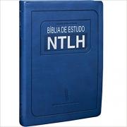 Bíblia de Estudo NTLH - Couro sintético Azul: Nova Tradução na Linguagem de Hoje (NTLH)
