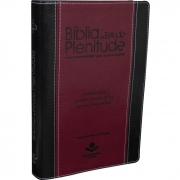 Bíblia De Estudo Plenitude Em Letra Vermelha -Nova Edição