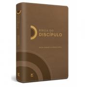 Bíblia do Discípulo NVI Luxo  capa marrom