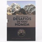 BÍBLIA ESTUDO DESAFIOS DE TODO HOMEM- AZUL/CINZA