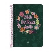 Bíblia Ilustrada Anote NVT espiral - Cores e Flores: Anote suas emoções