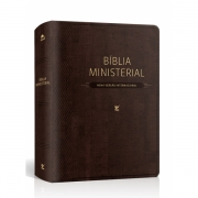 Bíblia Ministerial NVI  capa marrom escuro