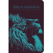 Bíblia NVT 960 Lion Head Turqueza - Letra Normal: Nova Versão Transformadora