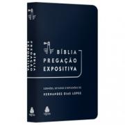 Bíblia Pregação Expositiva | RA | PU luxo azul escuro