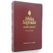 Bíblia Sagrada | ARC | Letra Grande | Harpa Cristã | Capa Vinho