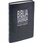 Bíblia Sagrada com Harpa Cristã / Azul Nobre - (ARC)