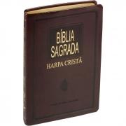 Bíblia Sagrada com Harpa Cristã / Marrom escuro - (ARC)