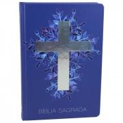Bíblia Sagrada Cruz - Capa azul