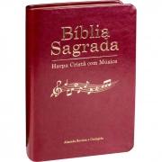 Bíblia Sagrada Harpa Cristã com Música / Vinho- (ARC)