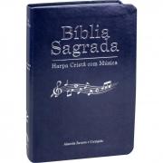 Bíblia Sagrada Harpa Cristã com Música / Azul - (ARC)