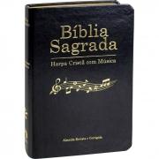 Bíblia Sagrada Harpa Cristã com Música / Preto - (ARC)