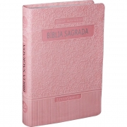 Bíblia Sagrada Letra Gigante / Rosa Claro - (ARA)