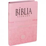 Bíblia Sagrada Letra Gigante / Rosa Claro - (NTLH)
