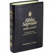 Bíblia Sagrada Letra Gigante, Edição com Letras Vermelhas e Harpa Cristã / Preto - (ARC)