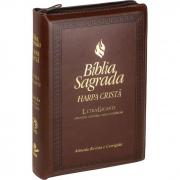 Bíblia Sagrada Letra Gigante, Edição com Letras Vermelhas e Harpa Cristã