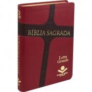 Bíblia Sagrada Letra Grande / Vermelho Cruz - (NAA)