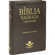 Bíblia Sagrada Letra Grande / Marrom - (ARC)