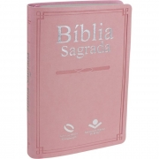 Bíblia Sagrada Slim Rosa Claro - (NAA)