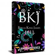 Bíblia Slim King James BKJ 1611 Lettering Bible  Floral