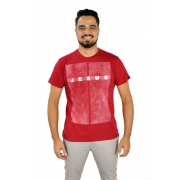 Camiseta Jesus retícula / Vermelha