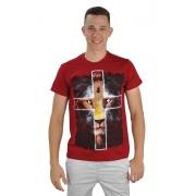 Camiseta Leão Cruz /  Vermelha