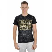 Camiseta Luz do Mundo / Preto e dourado