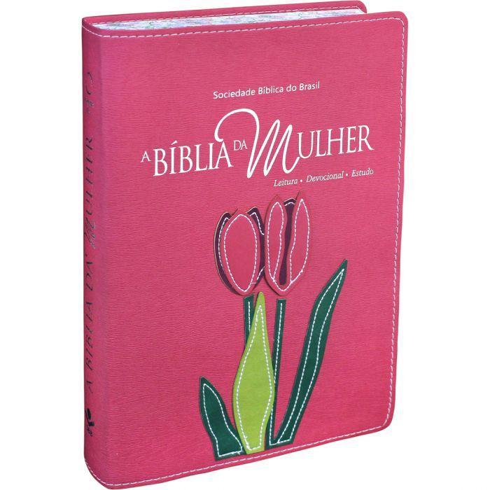 Bíblia de Estudo da Mulher | RA | Letra Normal | Capa Sintética | Tamanho Grande | Beiras floridas