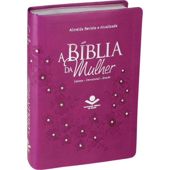 A Bíblia Estudo Mulher Rc Média Vinho Emborrachada