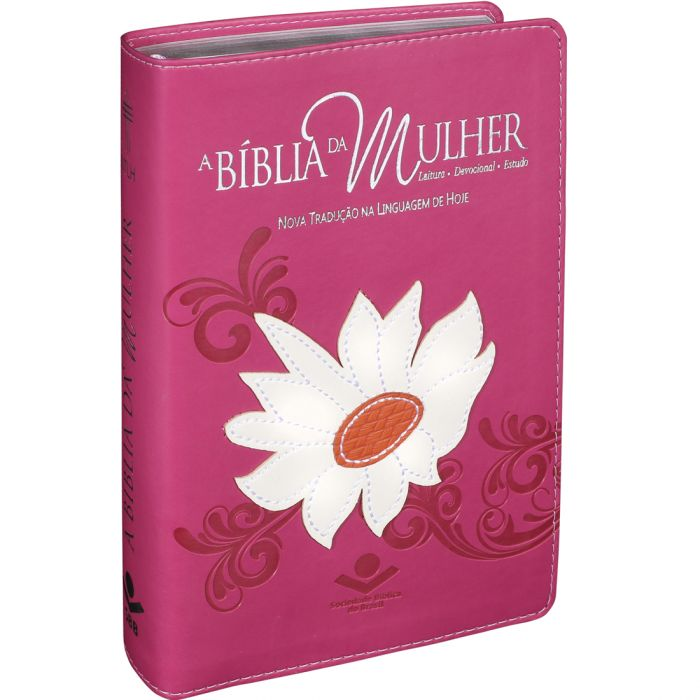 Bíblia da Mulher | NTLH | Letra Normal | Emborrachada | Rosa Margarida