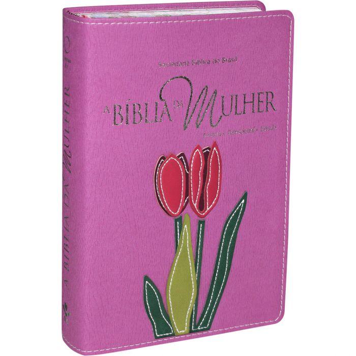 A Bíblia da Mulher  | RA | Letra Normal | Capa Sintética | Borda Florida