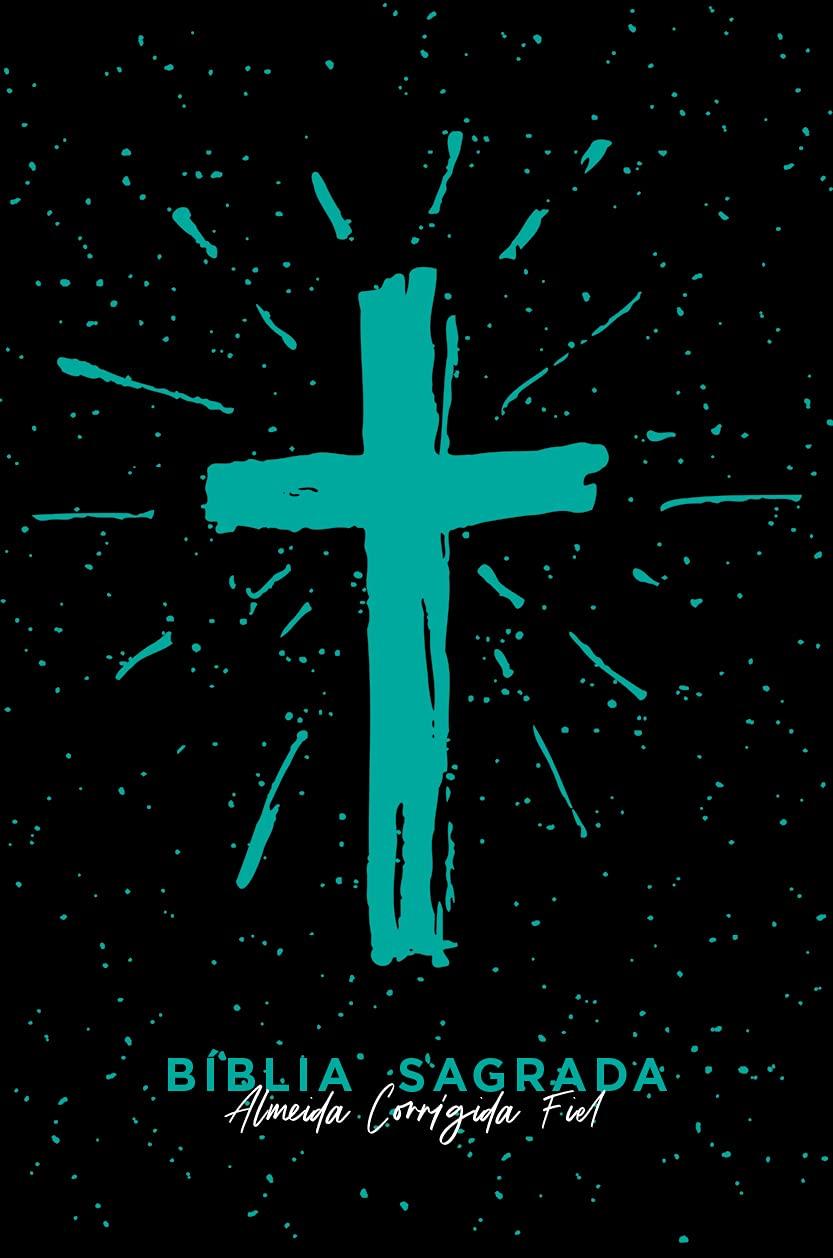 Bíblia ACF SLIM Cruz Tiffany Letra Normal: Almeida Corrigida Fiel  - Universo Bíblico Rs