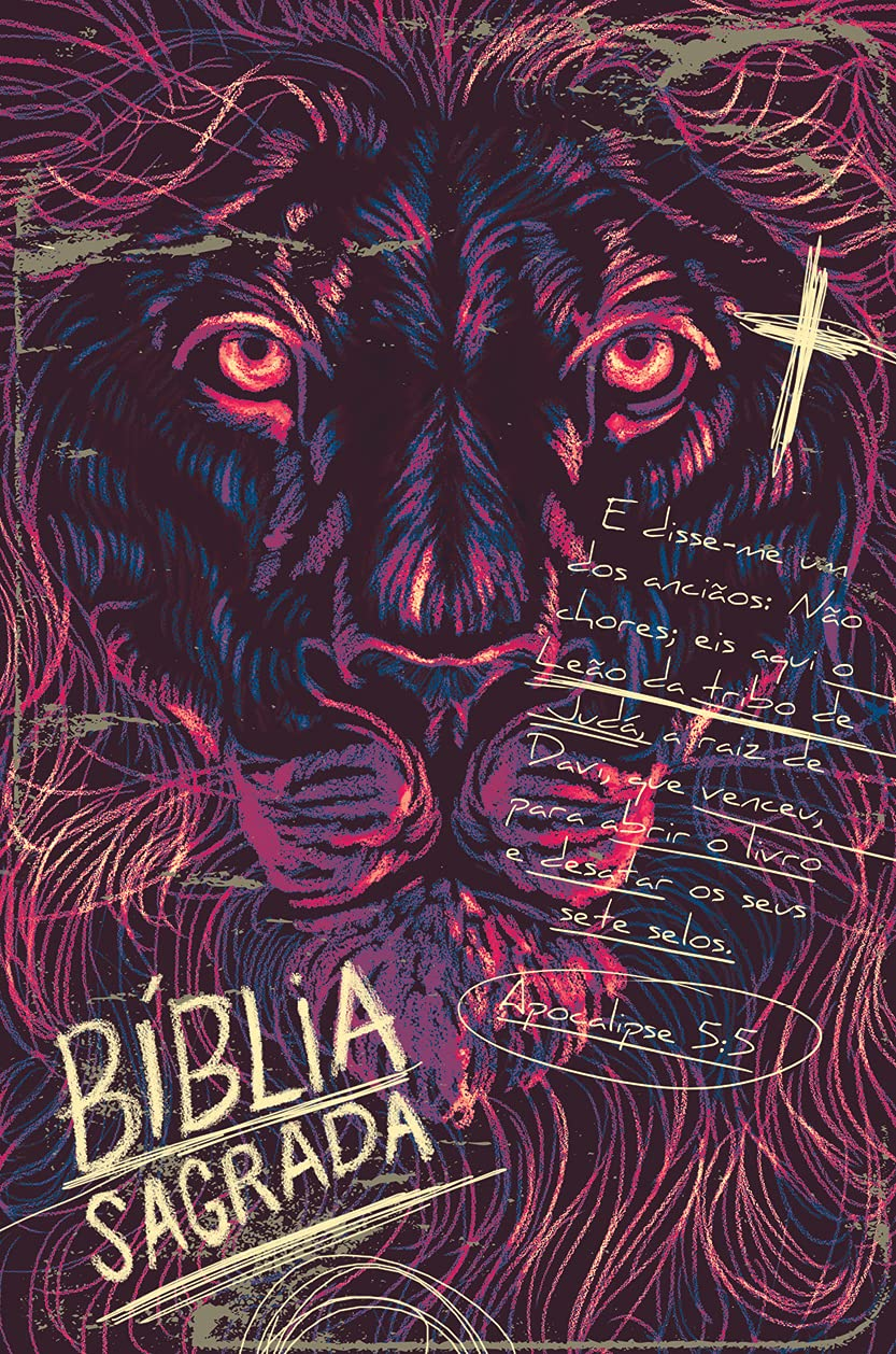 Bíblia ACF SLIM Lion Chalk Letra Normal: Almeida Corrigida Fiel  - Universo Bíblico Rs