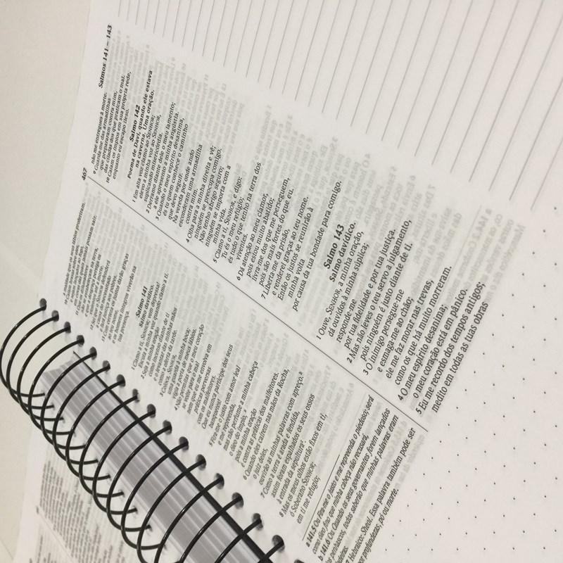 Bíblia Anote Espiral Asas do Pensamento | NVI | Letra Normal | Com Espaço Para Anotações  - Universo Bíblico Rs
