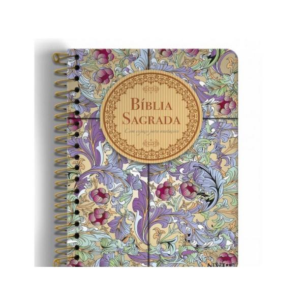 Bíblia Anote NVI grande - Capa Cálamo e canela  - Universo Bíblico Rs