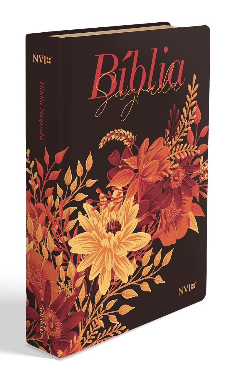 Bíblia Buquê Preta   NVI   Letra Gigante   Capa Soft-Touch  - Universo Bíblico Rs