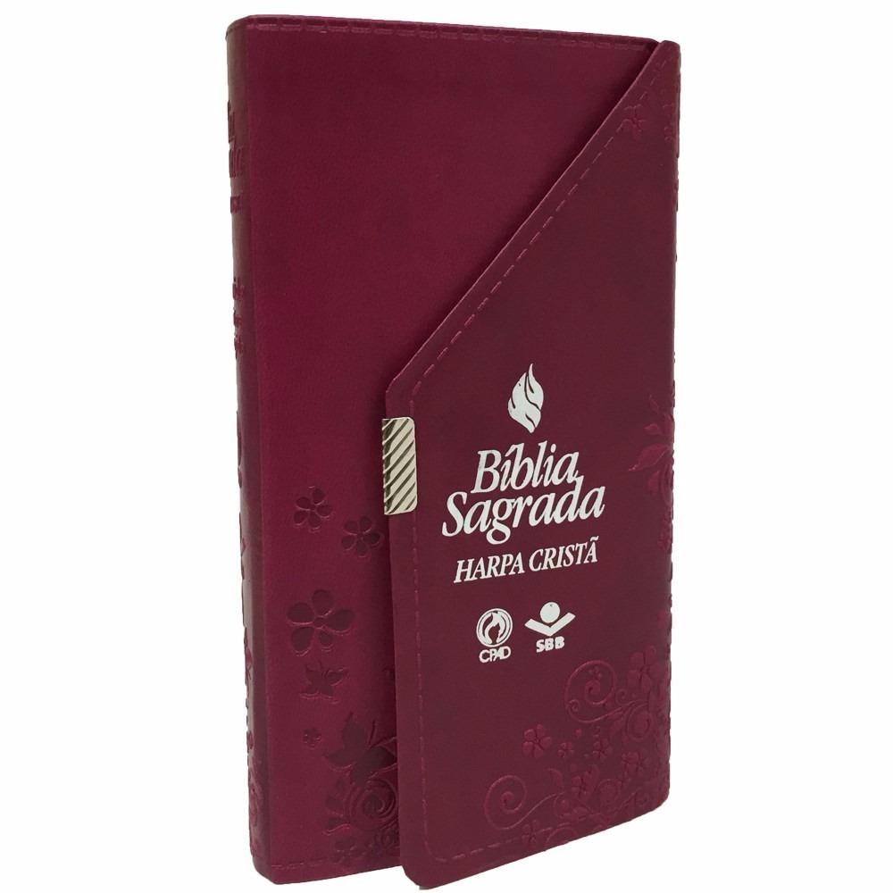 Bíblia Carteira com Harpa Cristã / Vinho - (ARC)  - Universo Bíblico Rs